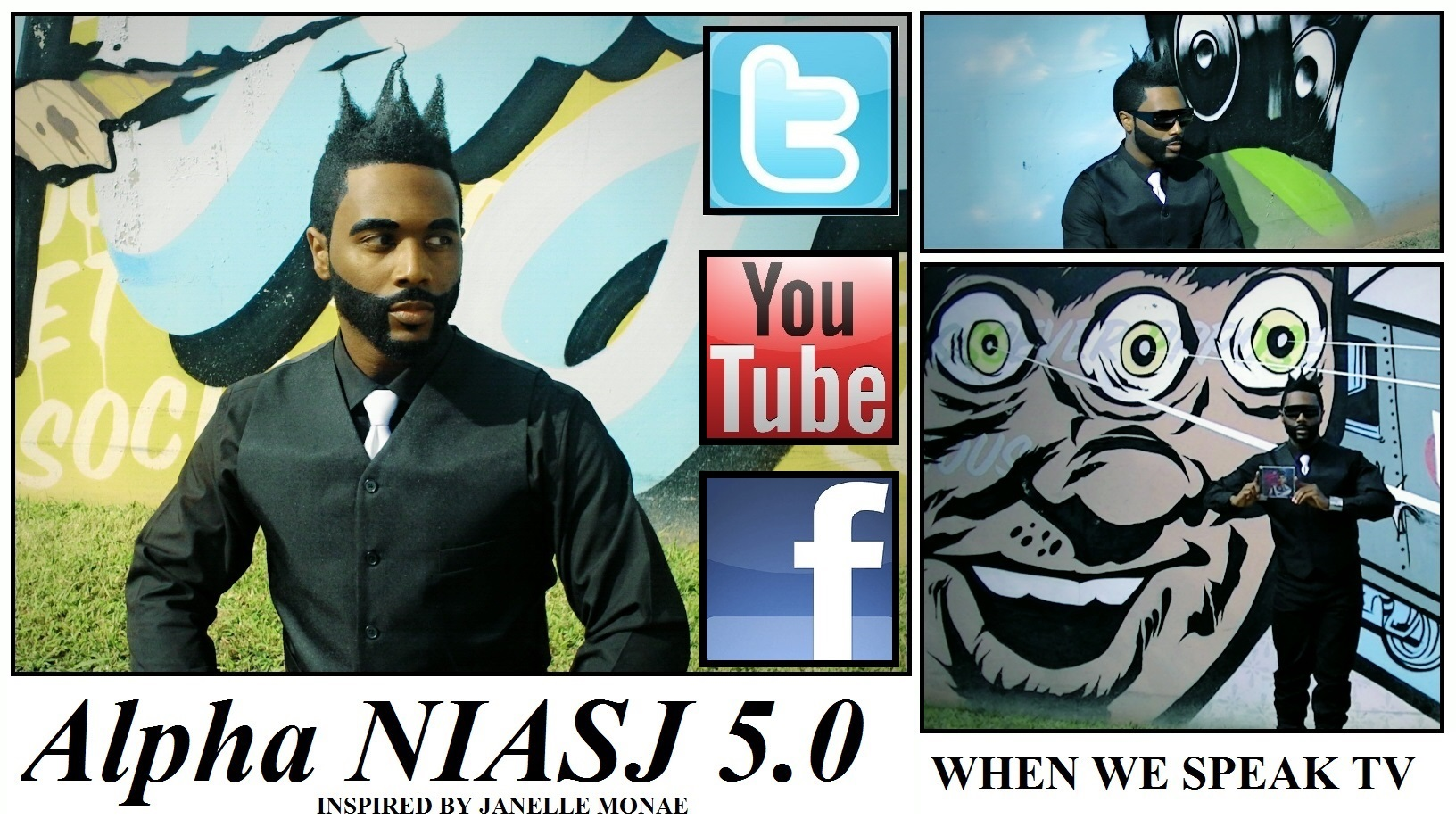 "Jermaine Sain as ""Alpha NIASJ 5.0"""